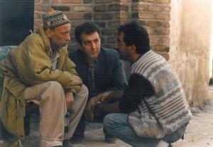 مرحوم علی حاتمی و مصطفی شایسته، پشت صحنه «جهان پهلوان تختی»