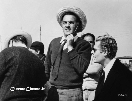 ۱۹۶۳، با مارچلو ماسترویانی بازیگر سر صحنه فیلم «هشت و نیم»