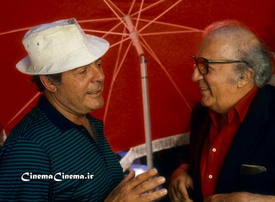 ۱۹۸۷، با مارچلو ماسترویانی بازیگر سر صحنه فیلم «مصاحبه»
