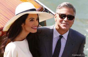 جرج کلونی و همسرش