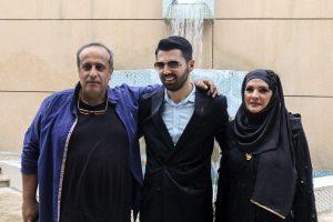 حمید نعمتالله آذر معماریان و امید معلم عکس سحر لطفی