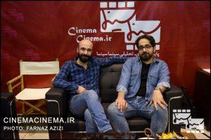 حمیدرضا بابابیگی فیلمنامه نویس و حسین کندری کارگردان فیلم شنل