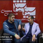 محسن آزرم منتقد سینما و هادی حیدری کارتونیست