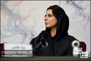 لیلا حاتمی در نشست خبری فیلم بمب
