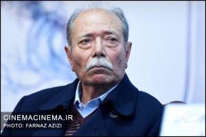 علی نصیریان در نشست خبری فیلم امپراتور شیطان