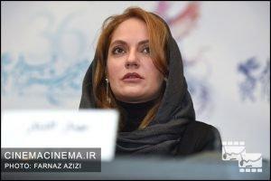 مهناز افشار در نشست خبری فیلم دارکوب