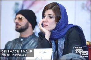 سارا بهرامی در نشست خبری فیلم دارکوب