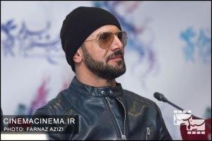 امین حیایی در نشست خبری فیلم دارکوب