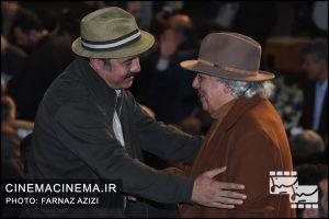 سعید آقاخانی و سیروس الوند در مراسم اختتامیه جشنواره فیلم فجر