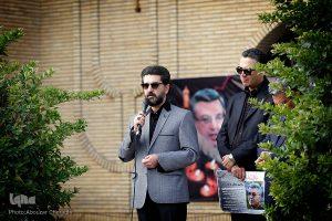 امیر حسین مدرس در تشییع پیکر سید مصطفی موسوی