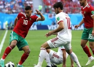 بازی ایران و مراکش