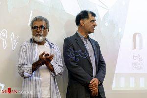 محمدرضا باهنر و افخمی در هفدهمین جشن مدیران تولید سینمای ایران