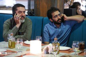 بهروز شعیبی و محمود رضوی در اکران فیلم دارکوب