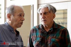 رضا کیانیان و علی نصیریان  در منزل مرحوم عزت الله انتظامی