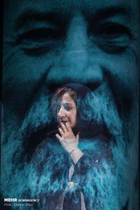 لیلی رشیدی در دومین دوره اهدای نشان داوود رشیدی در تماشاخانه سنگلج
