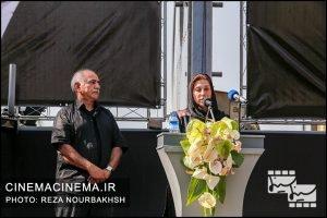 فاطمه معتمد آریا در مراسم تشییع پیکر آقای بازیگر «عزت الله انتظامی»