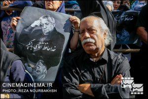 بهزاد فراهانی در مراسم تشییع پیکر آقای بازیگر «عزت الله انتظامی»
