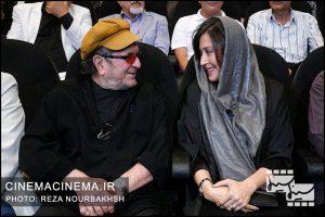مهتاب کرامتی و داریوش مهرجویی در آیین نکوداشت بیستمین جشن سینمای ایران
