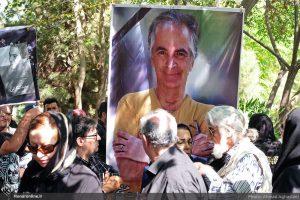 مراسم تشییع پیکر سعید کنگرانی در بهشت زهرا