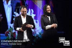 هانیه توسلی و صابر ابر در بیستمین جشن خانه سینمای ایران