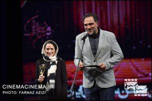 حسن فتحی و نگار جواهریان در بیستمین جشن خانه سینمای ایران