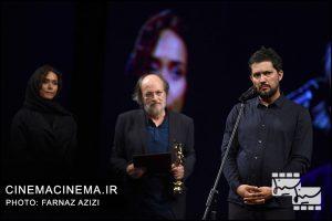 حامد بهداد، امین تارخ و پریناز ایزدیار در بیستمین جشن خانه سینمای ایران