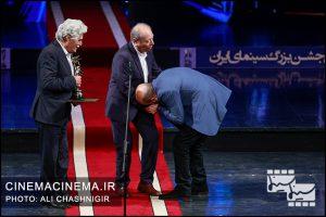 علی جلیلوند، علی نصیریان و هارون یشایاری در بیستمین جشن خانه سینما