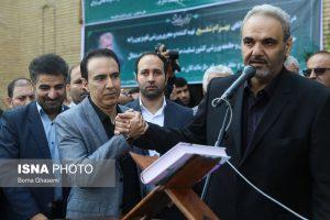 جواد خیابانی در مراسم تشییع پیکر بهرام شفیع