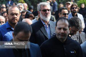 محمد رویانیان در مراسم تشییع پیکر بهرام شفیع