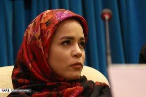 ملیکا شریفی نیا در نشست خبری سریال «دلدادگان»
