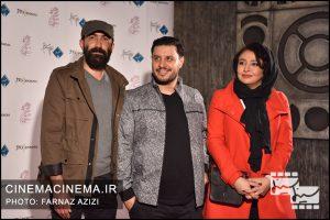 از راست مهلقا باقری، جواد عزتی، هادی حجازی در دوازدهمین جشن منتقدان و نویسندگان سینما