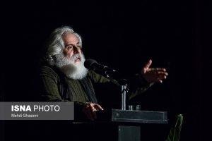محمد رحمانیان در اختتامیه نخستین جشنواره تئاتر رادی