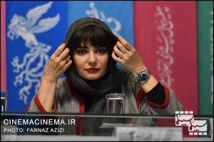 لیندا کیانی(بازیگر) در نشست رسانهای فیلم «پالتو شتری» در هفتمین روز سیوهفتمین جشنواره فیلم فجر
