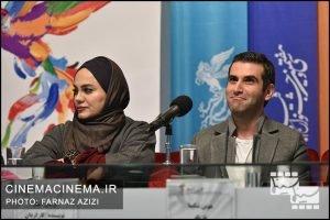 هوتن شکیبا و نرگس آبیار در پنجمین روز سیوهفتمین جشنواره فیلم فجر