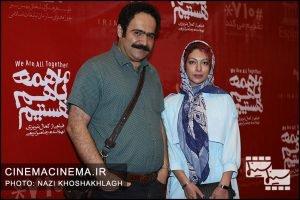 بهادر مالکی در افتتاحیه فیلم ما همه باهم هستیم
