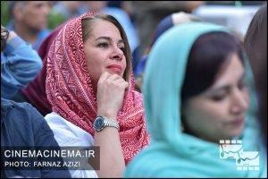 مستانه مهاجر در جشن زادروز عباس کیارستمی