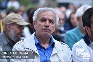 عزیزالله حاجی مشهدی در جشن زادروز عباس کیارستمی