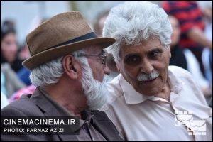 از راست هارون یشایایی و غلامرضا موسوی در جشن زادروز عباس کیارستمی