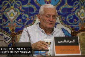 اکبر عالمی در نشست خبری پنجمین جشنواره فیلم و عکس فناوری و صنعتی