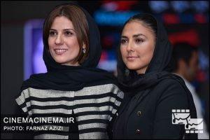 هدی زینالعابدین و سارا بهرامی در اکران خصوصی فیلم سرکوب