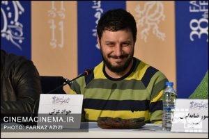 جواد عزتی در نشست خبری عوامل فیلم شنای پروانه در سی و هشتمین جشنواره فیلم فجر
