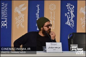 میر سعید مولویان در نشست خبری عوامل فیلم تومان در سی و هشتمین جشنواره فیلم فجر