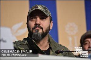 کامبیز دیرباز  در نشست خبری عوامل فیلم «خروج» در هفتمین روز سی و هشتمین جشنواره فیلم فجر