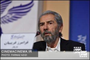 فرامرز قریبیان در نشست خبری عوامل فیلم «خروج» در هفتمین روز سی و هشتمین جشنواره فیلم فجر