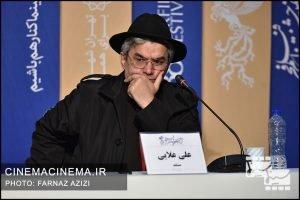 علی علایی در نشست خبری عوامل فیلم «من می ترسم» در هشتمین روز سی و هشتمین جشنواره فیلم فجر