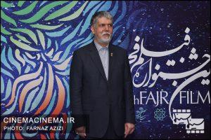 حضور سیدعباس صالحی، وزیر فرهنگ و ارشاد اسلامی در هشتمین روز سی و هشتمین جشنواره فیلم فجر