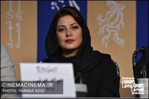 طناز طباطبایی در نشست خبری فیلم «خورشید» در دهمین روز سی و هشتمین جشنواره فیلم فجر
