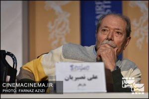 علی نصیریان در نشست خبری فیلم «خورشید» در دهمین روز سی و هشتمین جشنواره فیلم فجر