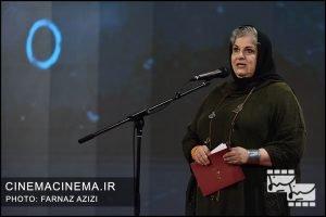 فرشته طائرپور در آیین اختتامیه سی و هشتمین جشنواره فیلم فجر