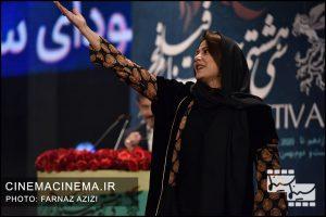 طناز طباطبایی در آیین اختتامیه سی و هشتمین جشنواره فیلم فجر